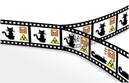 Disponível em: http://en.wikipedia.org/wiki/File:Schroedingers_cat_film.svg