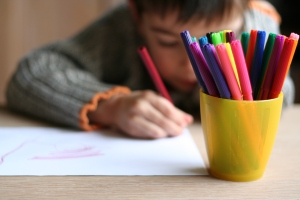 child-writing